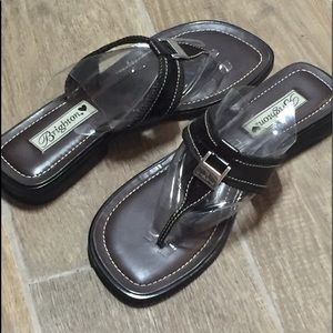 Brighton Lenox 9.5 Leather Flip Flops
